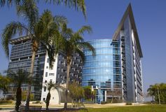 Hi-tech Industrial Park. Futuristic Architecture in Hi-tech Industrial Park. Petach Tikwa, Israel Stock Image