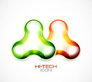 Hi-tech liquid abstract icon Stock Photo