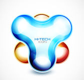 Hi-tech liquid abstract icon. Abstract vector liquid modern techno icon Stock Image