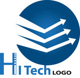Hi tech logo Royalty Free Stock Photography