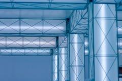 Hi-tech luminous construction. Building fluoriscent geometric lightbox Royalty Free Stock Photos