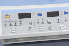Hi-tech medical equipment in hospital stock photo