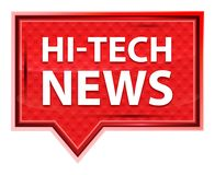 Hi-tech News misty rose pink banner button royalty free illustration
