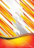 Hi-tech orange background. Clip-art Royalty Free Stock Photos