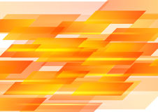 Hi-tech orange shapes abstract vector background Royalty Free Stock Photos