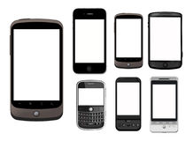 HI TECH PHONES Royalty Free Stock Photos