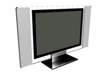 Hi-Tech Plasma Screen Royalty Free Stock Photo