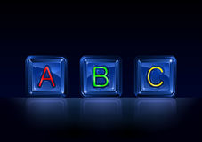 Hi-tech plastic alphabet blocks. On black background Royalty Free Illustration