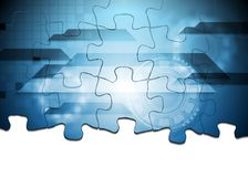 Hi-tech puzzle vector background Stock Photography