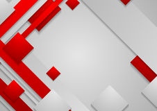 Hi-tech red grey corporate abstract background Stock Photography