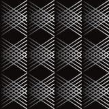 Hi Tech seamless Black Pattern. Hi Tech seamless Pattern, diagonal gray crossing shapes on black background. Background design for Hi Tech banner, poster, folder Royalty Free Stock Images