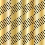Hi Tech seamless Pattern. Hi Tech seamless gold Pattern, diagonal black shapes on gold background. Texture background design for Hi Tech banner, poster, folder Royalty Free Stock Photos
