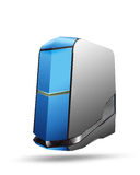 Hi-tech server. Abstract server, storage hardware object Royalty Free Stock Image