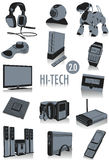 Hi-tech silhouettes 2 Royalty Free Stock Photos