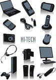 Hi-tech silhouettes Stock Images