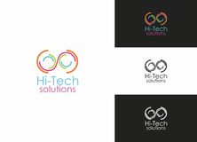Hi-Tech Solutions. Business Logo Template Royalty Free Stock Photos