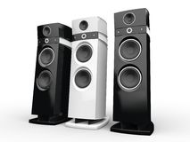 Hi-tech speakers - black and white Royalty Free Stock Photography