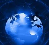 Hi-tech technological background stock illustration