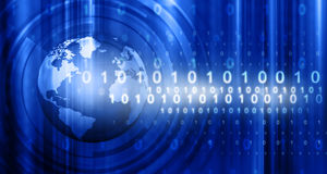 Hi-tech technological background. Digital illustration Stock Images