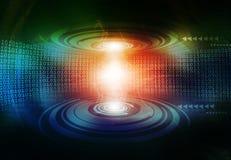 Hi-tech technological background. Binary stream Royalty Free Stock Photo