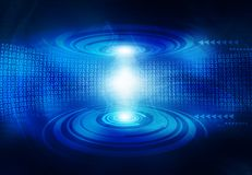Hi-tech technological background. Binary stream Stock Photos
