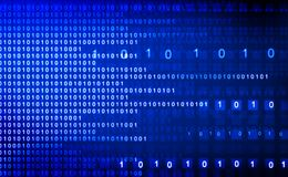 Hi-tech technological background. Binary stream Royalty Free Stock Images