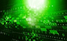 Hi-tech technological background. Digital illustration Stock Image