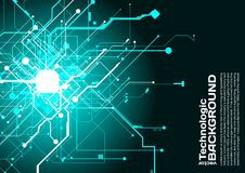 hi-tech technologie absract achtergrond cyberpunk stijl sc.i-FI Royalty-vrije Stock Afbeelding