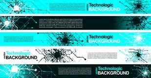 Hi-tech technology absract background cyberpunk sci-fi style. Technology absract hi-tech background sci-fi Royalty Free Stock Images