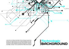 Hi-tech technology absract background cyberpunk sci-fi style. Technology absract hi-tech background sci-fi Stock Image