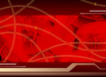 Hi-tech template. High-tech template with red abstract shapes, background,composition stock illustration