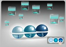 Hi tech of track ball mouse with technology abstract background Stock Photos