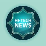 Hi-tech van de de knoophemel van de Nieuws de magische glazige zonnestraal blauwe blauwe achtergrond vector illustratie
