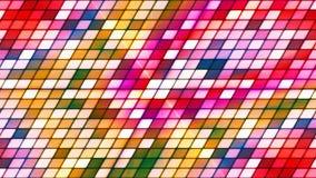 Hi-Tech van de uitzendings Fonkelende Helling Kubussen, Multikleur, Samenvatting, Loopable, 4K stock footage