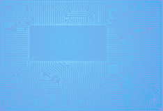 Hi-tech vector abstract blue circuit board backgro Stock Image