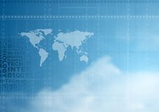 Hi-tech vector background in cloudy sky Royalty Free Stock Photos