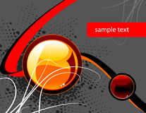 Hi tech wallpaper. Abstract hi tech vector illustration wallpaper with orange button and copy space Royalty Free Stock Images