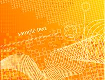 Hi-tech wallpaper. Abstract design, orange hi-tech wallpaper background. See many in my portfolio royalty free illustration