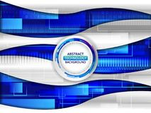 Hi tech wave vector illustration. Abstract future technology concept background. Hi tech wave vector illustration Royalty Free Stock Image