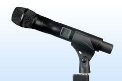 Hi-Tech Wireless Microphone. With clipping path stock photo
