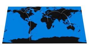 Hi-Tech World Map Royalty Free Stock Photos