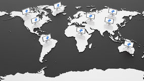 Hi-Tech World Map Stock Image
