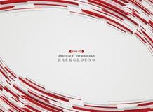 Hi technology motion gradient red stripe lines pattern background. stock illustration