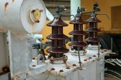 Hi Volt Bushing old transformer Stock Images
