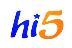 Hi5 logo. Hi5 community logo on a white background Stock Photos