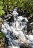 Hiawatha公园瀑布 免版税库存图片