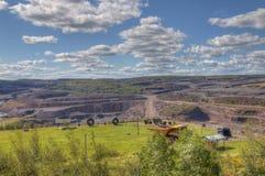 Hibbing, Minnesota Open Pit Mine royalty-vrije stock afbeelding