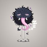 Hibernating Cartoon Monster Royalty Free Stock Photography