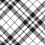 Hibernian fc tartan black and white plaid diagonal pattern Stock Photography