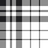 Hibernian fc tartan check plaid black and white pattern seamless Stock Photo